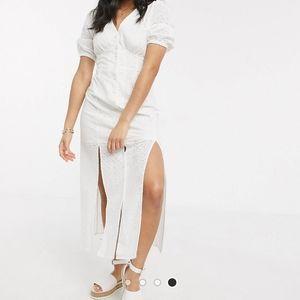 NWT ASOS eyelet lace maxi dress size 14